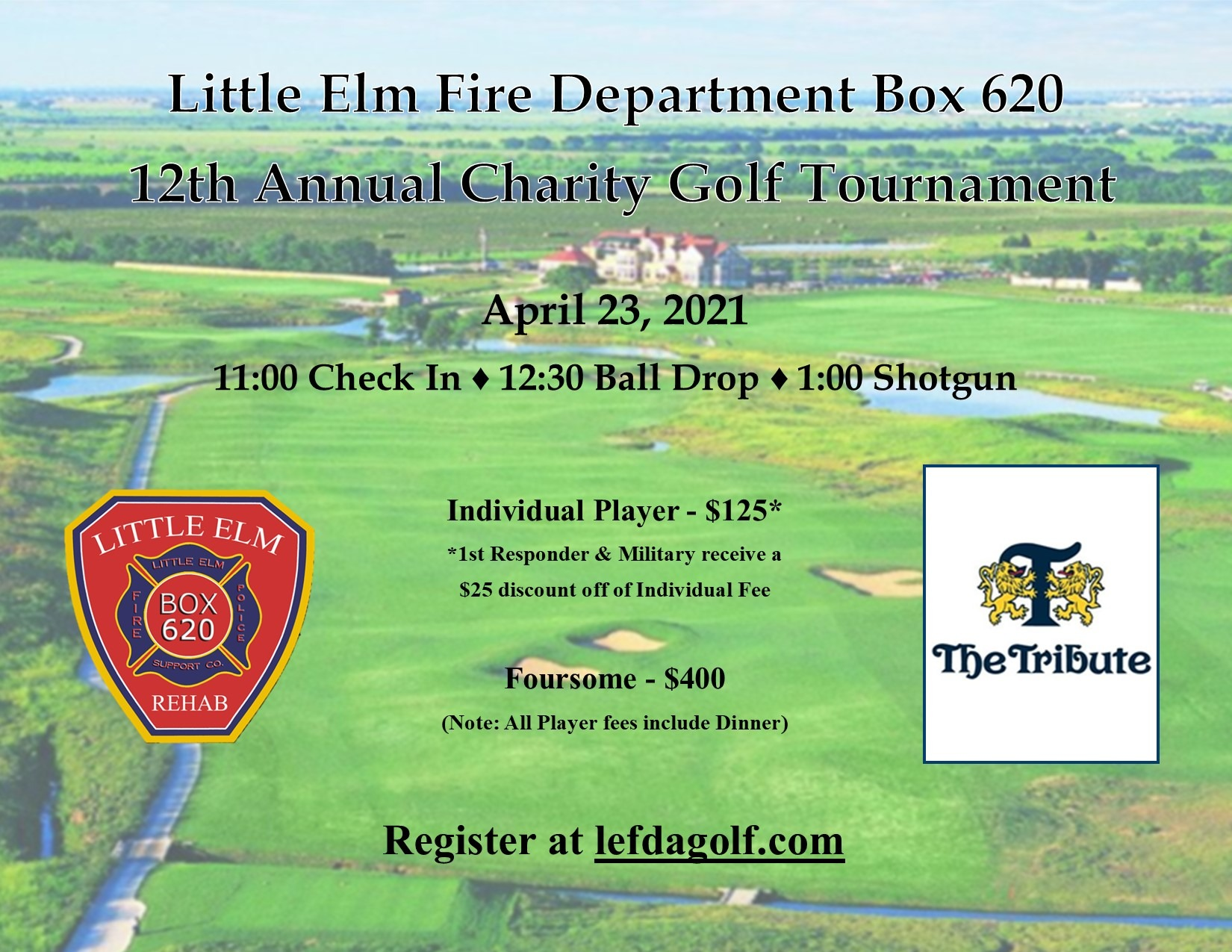 Little Elm Fire Department Auxiliary Announces Partnership with Little Elm Box 620 Support Co. to Host 12th Annual Charity Golf Tournament!